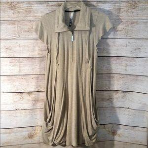 Kensie Zip-Front Drapey Dress